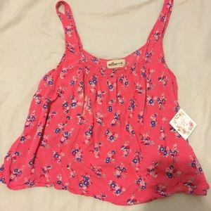 Hollister tank top with open back